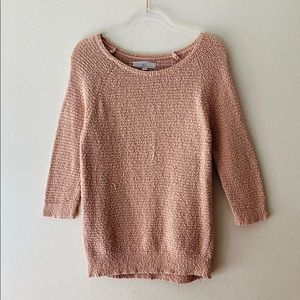 LOFT Blush Knit Crewneck Sweater Size Large